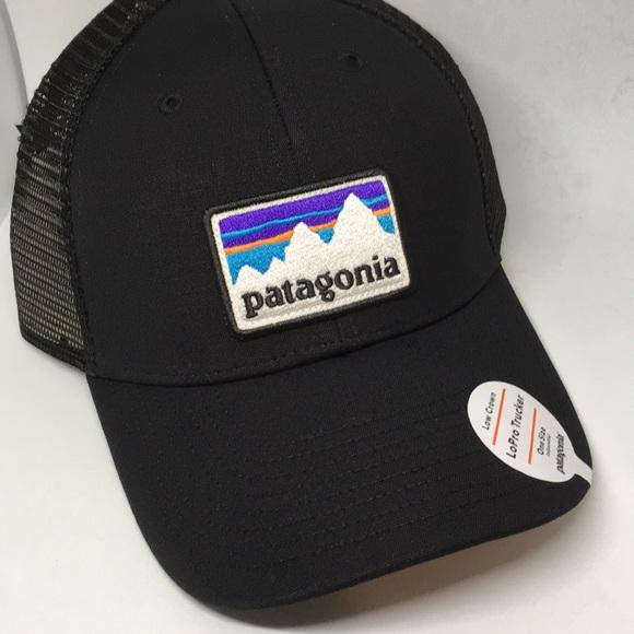 7c0cc2479fb NWT Patagonia LoPro Black trucker SnapBack hat